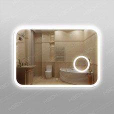Зеркало 341скл2 с LED подсветкой 9,6 Вт/м 70 х 100 см с косметическим зеркалом с подсветкой 16х16 см с сенсорным выключателем