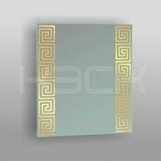 Зеркало 45168 gold  53,5 х 46,5 см с золотым рисунком