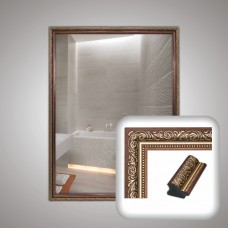 Зеркало 0006 в багетной раме 80х60 см универсальное