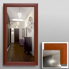 Зеркало 45302 в рамке МДФ 90 х 50 вишня