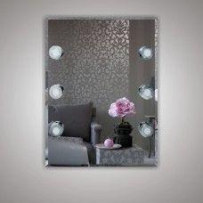 Зеркало 7060806 80 х 60 гримерное с фацетом 6 светодиодных фонарей по 4 Вт
