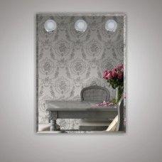 Зеркало 7080806 80 х 60 гримерное с фацетом 3 светодиодных фонаря по 4 Вт