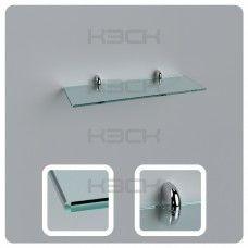 Полка 40 см прозрачная стекло 6 мм