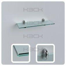 Полка 40 см прозрачная с полированной кромкой стекло 8 мм