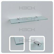 Полка 40 см прозрачная стекло 5 мм
