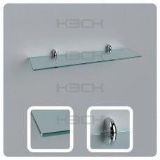 Полка 50 см прозрачная  стекло 6 мм