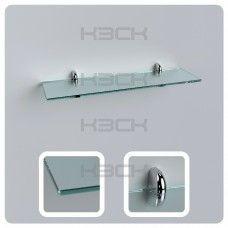 Полка 50 см прозрачная с полированной кромкой стекло 8 мм