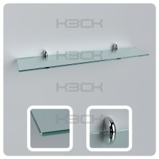 Полка 60 см прозрачная стекло 6 мм