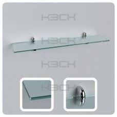 Полка 60 см прозрачная с полированной кромкой стекло 8 мм