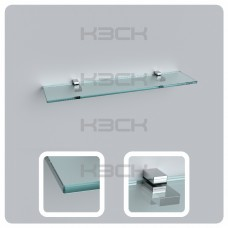 Полка 60 см прозрачная с полированной кромкой (стекло 10 мм 45034 и крепление 16-127)