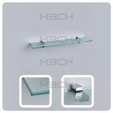 Полка 70 см прозрачная с полированной кромкой (стекло 10 мм 45035 и крепление 16-127)