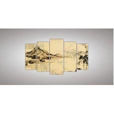 Картина модульная  1 из пяти частей 1100 х 2000 ( 80 х 34 - 2шт  95 х 38 - 2 шт 110 х 42 - 1шт) из стекла 6 мм без креплений.