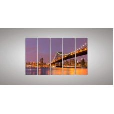 Картина модульная  3 из пяти частей 1200 х 2000 ( 120 х 38 - 5шт) из стекла 6 мм без креплений.