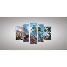 Картина модульная  7 из пяти частей 1100 х 2000 ( 62 х 32 - 2шт  83 х 28 - 2 шт 110 х 32 - 1шт) из стекла 6 мм без креплений.