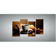 Картина модульная 11 из четырех частей 1300 х 2400 ( 120 х 59 - 4шт) из стекла 6 мм без креплений.