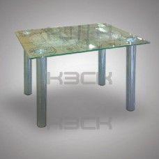 Стол стеклянный 60 х45 х50 с 8 мм с полноцветом