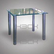 Стол стеклянный 60 х45 х50    8 мм с фацетом