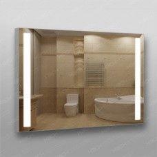 Зеркало 384о2 с LED подсветкой 9,6 Вт/м 70 х 100 см с антизапотеванием 50х50 см с кнопочным выключателем