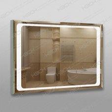 Зеркало 790 с LED подсветкой 9,6 Вт/м 70 х 100 см с фацетом, кнопочным выключателем, с закрытой тыльной стороной, универсальное крепление