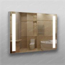 Зеркало 384о1 с LED подсветкой 9,6 Вт/м 60 х 80 см с антизапотеванием 25х50 см с кнопочным выключателем