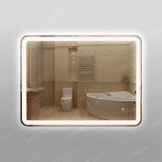 Зеркало 348ско1у с LED подсветкой 9,6 Вт/м 60 х 80 см с сенсорным выключателем с подогревом 25х50 см универсальное крепление