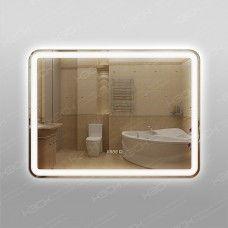 Зеркало 348ч3 с LED подсветкой 9,6 Вт/м 60 х 80 см  с сенсорным выключателем и часами