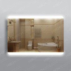 Зеркало 315ч3 с LED подсветкой 9,6 Вт 70 х 100 см с сенсорным выключателем и часами