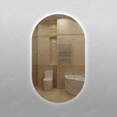 Зеркало 575ску с LED подсветкой 9,6 Вт/м 100 х 60 см с сенсорным выключателем универсальное крепление
