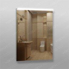 Зеркало 210 с LED подсветкой 9,6 Вт/м 80 x 60 см с кнопочным выключателем