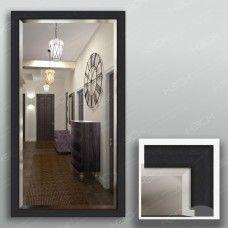 Зеркало 3718Ф в багетной раме 90х50 см с фацетом