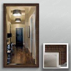 Зеркало 4328Ф в багетной раме 90х50 см с фацетом