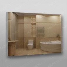 Зеркало  899 с еврокромкой в алюминиевом профиле 70 х 100 см универсальное крепление