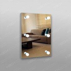 Зеркало 806 гримерное 800 x 600мм с кнопочным выключателем 6 патронов (без лампочек)
