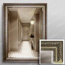 Зеркало 3569Ф в багетной раме 80х60 см универсальное с фацетом