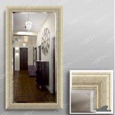 Зеркало 1035Ф в багетной раме 90х50 см с фацетом