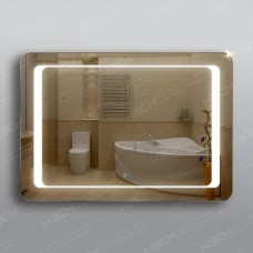 Зеркало 311ск2о2 с LED подсветкой 4,8 Вт/м 70 х 100 см с двойным сенсорным выключателем и антизапотеванием 50х50 см