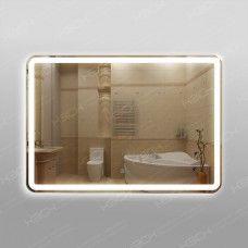 Зеркало 348ск2о2 с LED подсветкой 9,6 Вт/м 70 х 100 см с двойным сенсорным выключателем и антизапотеванием 50х50 см
