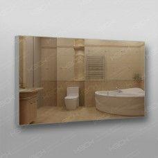 Зеркало 899 с еврокромкой в алюминиевом профиле 60 х 100 см универсальное крепление