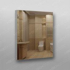 Зеркало 899 с еврокромкой в алюминиевом профиле 70 х 60 см универсальное крепление