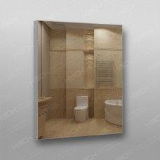 Зеркало 899 с еврокромкой в алюминиевом профиле 80 х 70 см универсальное крепление
