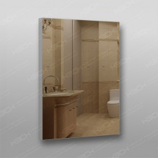 Зеркало 899 с еврокромкой в алюминиевом профиле 90 х 70 см универсальное крепление