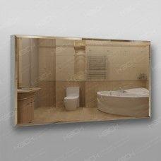 Зеркало 898 с фацетом на алюминиевом профиле  60 х 110 см универсальное крепление