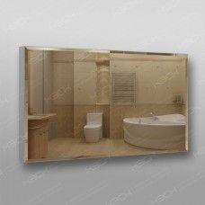 Зеркало 898  60 х 100 см с фацетом на алюминиевом профиле универсальное крепление