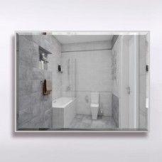 Зеркало 856  60 х 80 см с фацетом на сером алюминиевом профиле с универсальным креплением