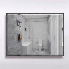 Зеркало 855  60 х 80 см с фацетом на черном алюминиевом профиле с универсальным креплением