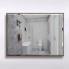 Зеркало 859  60 х 80 см с фацетом на бронзовом алюминиевом профиле с универсальным креплением